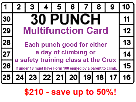 Crux Climbing Center Memberships